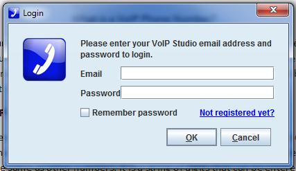 Cómo obtener un número de VoIP: ingrese el ID de correo electrónico y la contraseña de VoIP