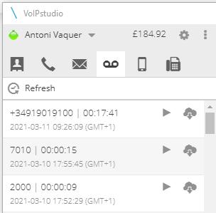 grabacion llamada voip en perfil usuario desde softphone