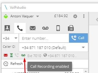 Grabacion automática llamada VoIP